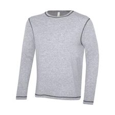 ATCTM EUROSPUN RING SPUN CONTRAST STITCH LONG SLEEVE TEE
