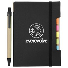 """4""""x 6"""" Recycled Sticky Notebook with Pen"""